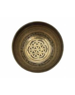 """Tibetská misa, """"GULP"""", gravírovaná s dizajnom, priemer 25cm"""