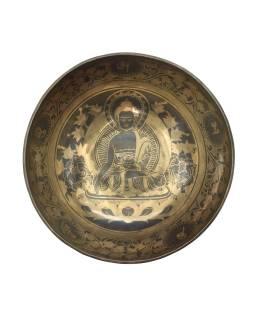 """Tibetská misa, """"GULP"""", gravírovaná s dizajnom, priemer 28cm"""