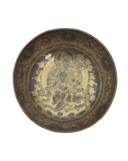"""Tibetská misa, """"GULP"""", gravírovaná s dizajnom, priemer 29cm"""