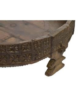 Okrúhly stolík z mangového dreva, 74x74x29cm