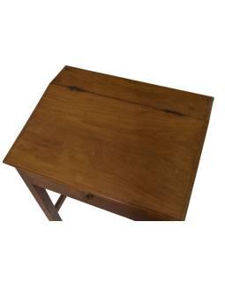 Starý Kupecký stolík z teakového dreva, 65x50x78cm