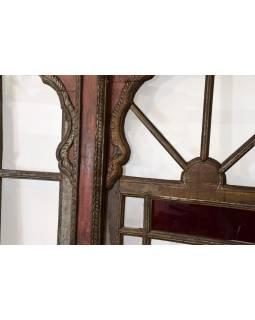 Staré presklené dvere z Gujarati, teakové drevo, 232x11x202cm
