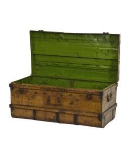 Plechový kufor, staré príručnú batožinu, 101x50x50cm