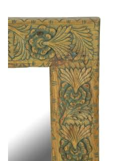 Zrkadlo v ráme z teakového dreva, ručne vyrezávané, 55x3x85cm