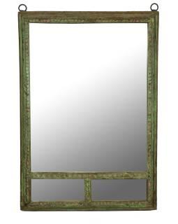 Zrkadlo v ráme z teakového dreva, 105x5x152cm