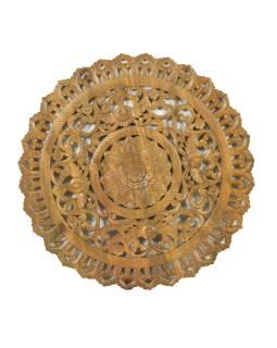 Ručne vyrezaná mandala z mangového dreva, priemer 120cm
