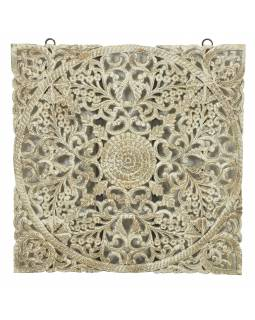 Ručne vyrezaná mandala z mangového dreva, 120x5x120cm