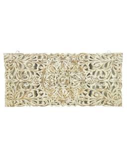 Ručne vyrezaná mandala z mangového dreva, 90x5x200cm
