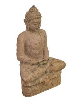 Pieskovcová socha z Orissa, Budha, 60x35x96cm