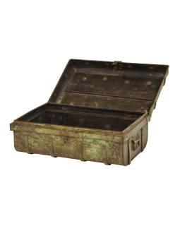 Plechový kufor, staré príručnú batožinu, 60x35x22cm