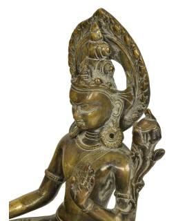 Biela tara, mosadzná socha, 20x20x33cm