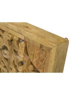 Ručne vyrezaná mandala z mangového dreva, 95x95x5cm