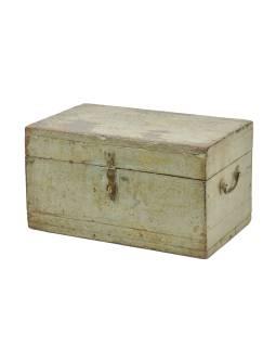 Stará truhlička z teakového dreva, 49x30x27cm