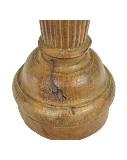 Drevený svietnik zo starého teakového stĺpa, 15x15x50cm