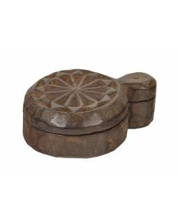 Krabička na tikov, stará pôvodná krabička na práškové farby, 18x13x7cm