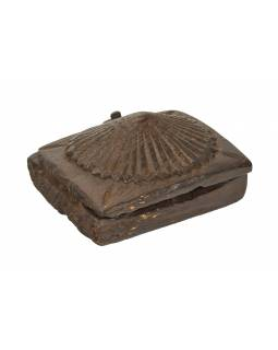 Krabička na tikov, stará pôvodná krabička na práškové farby, 14x15x8cm