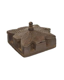 Krabička na tikov, stará pôvodná krabička na práškové farby, 17x15x11cm