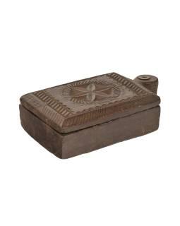 Krabička na tikov, stará pôvodná krabička na práškové farby, 23x14x6cm