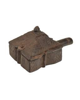 Krabička na tikov, stará pôvodná krabička na práškové farby, 18x10x10cm