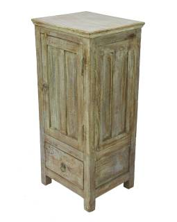 Skrinka z teakového dreva, 41x36x92cm