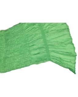 Šatka, jednofarebný, žabičkování, zelený, hodváb s elastanom, 26 * 160cm