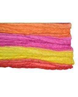 Šatka, hodváb, batika, mačkaná úprava, 4 farby 110x180cm