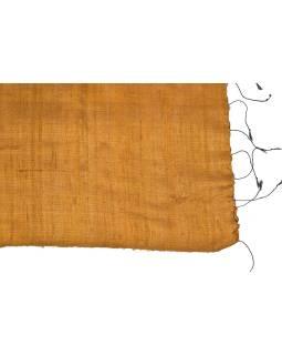 Medený šatka z hrubého hodvábu, strapce, 66x190cm