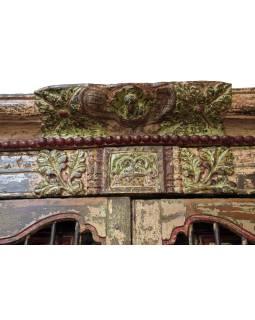 Antik dvere s rámom z Gujarati, teakové drevo, 165x14x220cm
