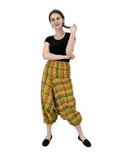 Turecké nohavice, žlté, pružný pás