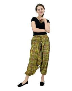 Turecké nohavice, zelené, pružný pás