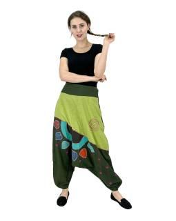 Turecké nohavice, dve vrecká, pružný pás, guma na chrbte