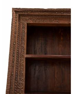 Knižnica zo starého portálu, teakové drevo, 140x40x211cm