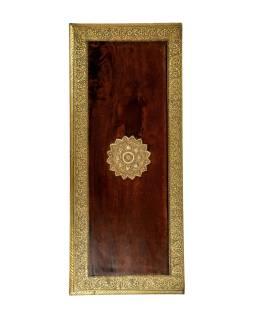 Komoda z palisandrového dreva zdobená mosadzným kovaním, 79x33x72cm