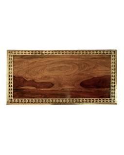 Šuplíková komoda z palisandrového dreva zdobená mosadzou, 90x45x110cm