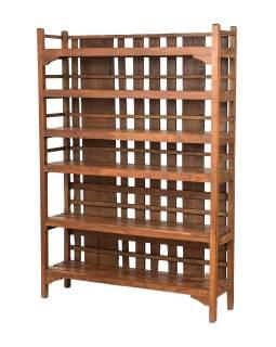 Regál z teakového dreva, 121x30x170cm