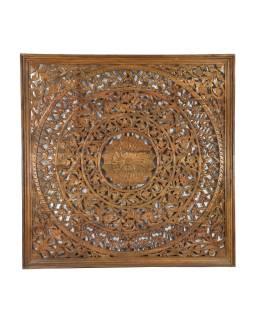 Drevená mandala z mangového dreva, ručne vyrezávaná ,, 200x10x200cm