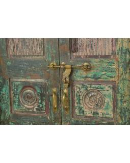 Antik dvere s rámom z Gujarati, teakové drevo, 148x30x213cm