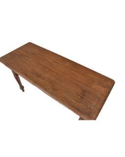 Starý stôl z tekového dreva, 140x50x77cm
