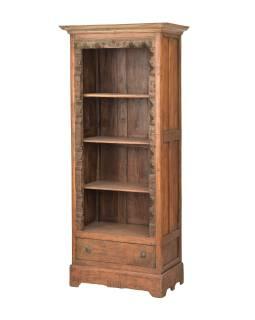 Knižnica z teakového dreva, 80x50x186cm