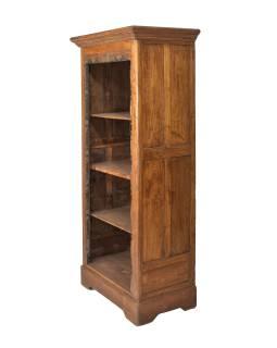 Knižnica z teakového dreva, 80x50x185cm