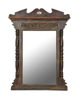 Zrkadlo v ráme z teakového dreva, 117x12x154cm