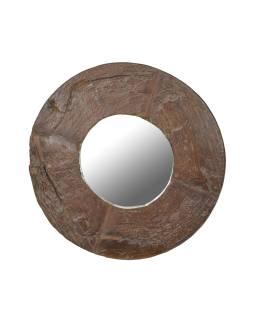 Zrkadlo v ráme z teakového dreva, 62x10x62cm