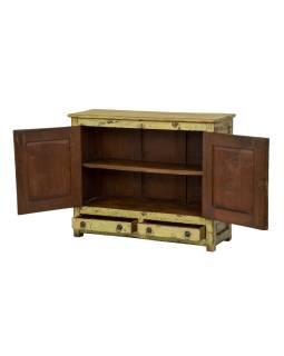 Stará skrinka z teakového dreva, 96x33x78cm