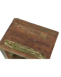 Nočný stolík z teakového dreva, 48x36x48cm