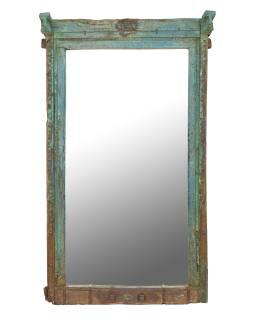 Zrkadlo v ráme zo starého teakového dreva, 107x30x190cm