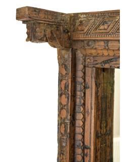 Zrkadlo v ráme zo starého teakového dreva, 98x28x181cm