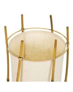 Stojaca lampa / tienidlo z bambusu a látky, 25x25x80cm
