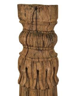 Starý, ručne vyrezávaný stĺp z teakového dreva, 25x25x157cm