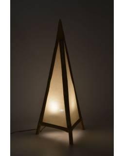 Stojaca lampa / tienidlo z bambusu a látky, 50x50x117cm