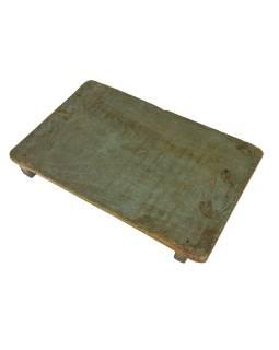 Čajový stolík z teakového dreva, 50x32x7cm